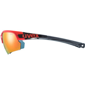 UVEX Sportstyle 224 Sportglasses red black/mirror red